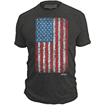 This We'll Defend - Distressed American Flag - Made of USA - Mens 52/48 Premium T-Shirt, Charcoal Heather