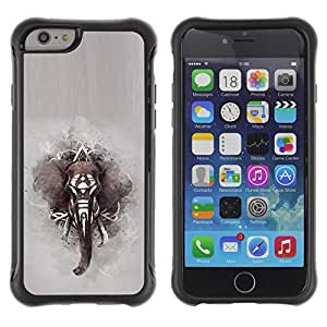 Lady Case@ Elephant African Indian Painting Grey Rugged Hybrid Armor Slim Protection Case Cover Shell For iPhone 6 Plus CASE Cover ,iphone 6 5.5 case,iPhone 6 Plus cover ,Cases for iPhone 6 Plus 5.5