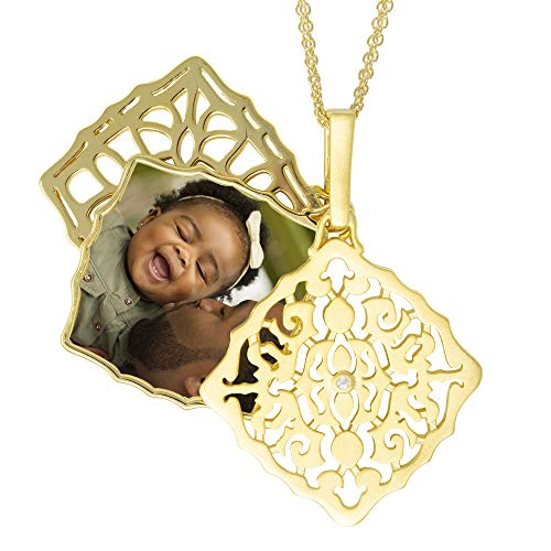 With You Lockets-Fine Yellow Gold-Custom Photo Locket Necklace-That Holds Pictures For Women-The Mimi by With You Lockets (Image #1)