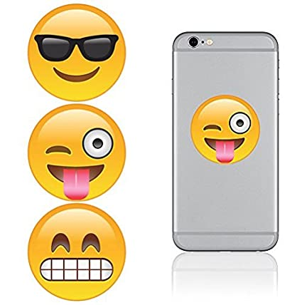 Amazoncom IDecoz Emoji Reusable Vinyl Decal Sticker Sheet For - Vinyl decals for phone cases