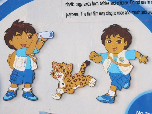 Nick Jr. Go Diego Go Wall Art Foam Appliques ()