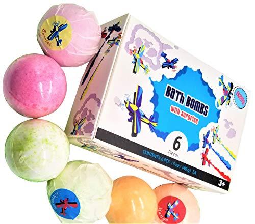 ENJOYFUL Kids Bath Bombs Gift Set with toy Surprise inside, 6x 5oz...