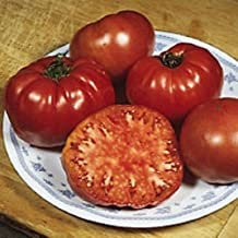 Organic Heirloom Tomato-Red Brandywine 25+ Vegetable Seed thin skin juicy sweet,rich, and slightly spicy flavor.
