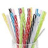 25-Pieces-Reusable-Plastic-Straws-BPAFree-9-Inch-Long-Drinking-Transparent-Straws-Fit-for-Mason-Jar-Yeti-Tumbl