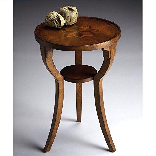 BUTLER 1328101 DALTON OLIVE ASH BURL ROUND ACCENT TABLE (Ash Burl Desk)