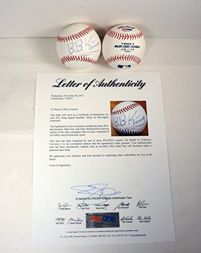 BB King Signed Autograph MLB Baseball PSA/DNA COA