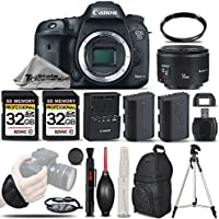 Canon EOS 7D Mark II Digital SLR Camera Body Full HD 1080p + Canon 50mm 1.8 II Lens + Backup Battery + 2 Of 32GB Memory Card + UV Filter. All Original Accessories Included - International Version