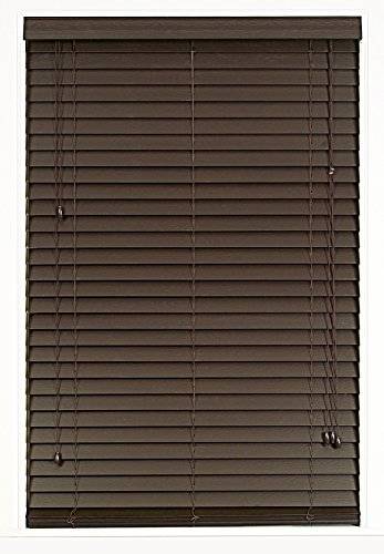 Plantation Collection Madera Falsa 2 Inch Faux Wood Blind Mahogany 35 X 64 Actual