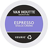 Van Houtte Espresso Dolce Crema Signature Recyclable K-Cup Coffee Pods, 10 Count For Keurig Coffee Makers