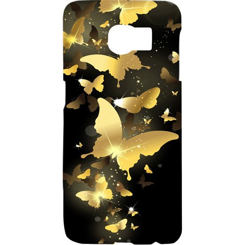 casotec golden butterfly pattern design hard back case cover for samsung galaxy s6 edge   Gold
