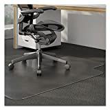 Universal 56806 Cleated Chair Mat for Low and Medium Pile Carpet 36 x 48 Clear