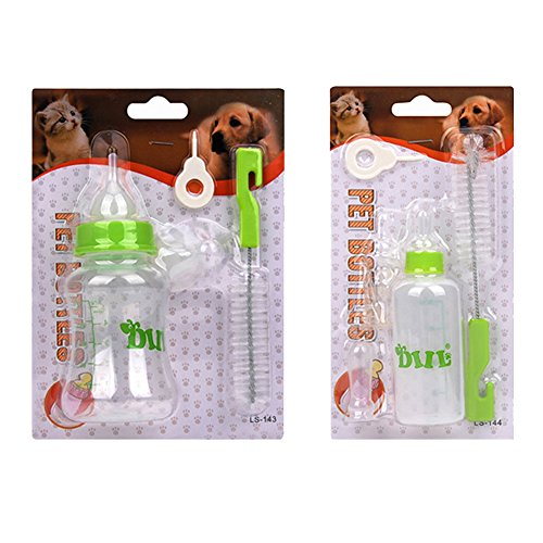 Mundopet Nursing Feeding Bottle Nipple Brush Kit for Pet Dog Puppy Cat Kitten (S 60ml