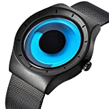 Watch, Mens Watches Stainless Steel Fashion Cool Unique Style Mesh Band Aurora Dress
