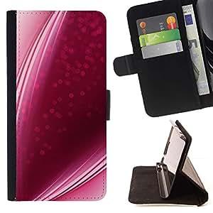 Momo Phone Case / Flip Funda de Cuero Case Cover - Lignes bonbons fraise Rencontres - Sony Xperia Z5 5.2 Inch (Not for Z5 Premium 5.5 Inch)