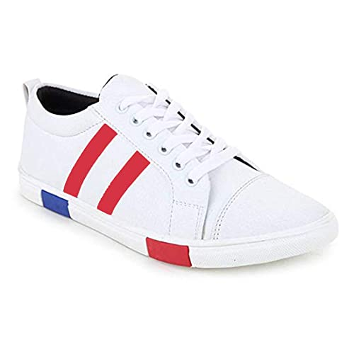 bbf4a7041 Walk Street Men s Boy s Casual Sneakers White Color Shoes (Shoe-White-Black-