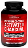 Best Gas Relief Pills - Organic Activated Charcoal Capsules - 600mg Coconut Charcoal Review