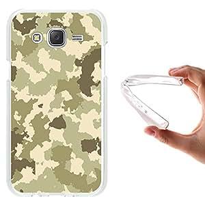 WoowCase - Funda Gel Flexible { Samsung Galaxy J5 } Camuflaje Militar Verde Carcasa Case Silicona TPU Suave