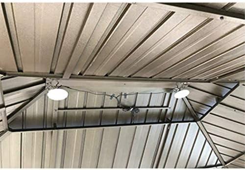 MZSG Solar Pendelleuchte, mit ferngesteuerten Notleuchten, wiederaufladbare Solar-Campingleuchten im Freien, für Lagerhaus Garden Path Street Camping, mit 5M Kabel
