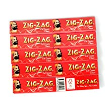 ZIG-ZAG Red Cut Corners : 10 booklets x 60 rolling papers
