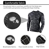 Niksa 3 Pcs Men's Workout Set with Compression Pants, Sweat-wicking Shirt and Loose Fitting Shorts