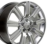 20x9.5 Wheel Fits Land Rover - Range Rover Stormer Style Hyper Silver Rim, Hollander 72200