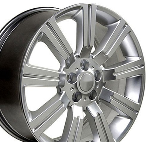 22x10 Wheels Fit Land Rover - Range Rover Stormer Style Hyper Silver Rims - SET