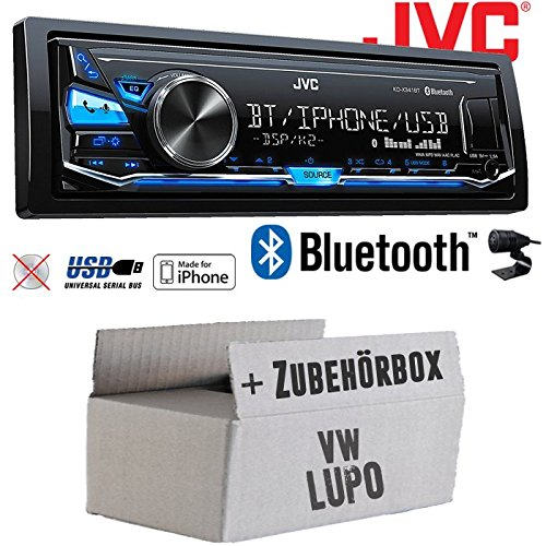 VW Lupo - JVC KD-X341BT - Bluetooth | MP3 | USB | Android | iPhone Autoradio - Einbauset JUST SOUND best choice for caraudio