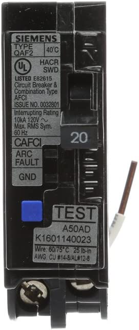Siemens QA120 AFC 20-Amp 1 Pole 120v Arc Fault Circuit Breaker Brand New