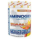 VMI Sports, Aminogex Ultra BCAA Powder, Tropical Mango, 30 Servings, Branched Chain Amino Acids Powder for Endurance & Muscle Recovery, Pre- or Post-Workout Supplement for Muscle Building For Sale