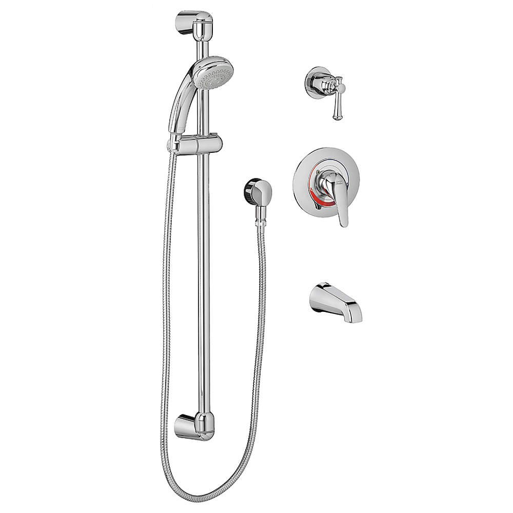 American Standard 1662.215002 Commercial Tub and Shower System Complete Kit, Polished Chrome