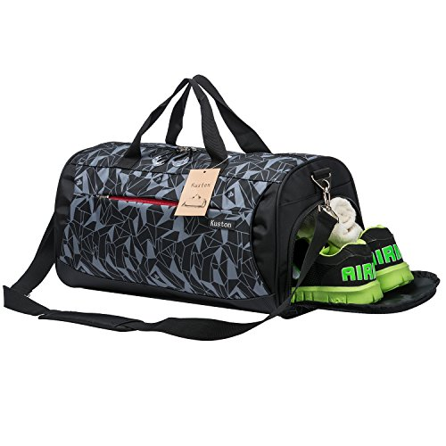606fbe5692 Kuston Sports Gym Bag with Shoes Compartment Travel Duffel Bag for Men and  Women