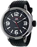 U.S. Polo Assn. Sport Men's US9054 Black Dial Black Rubber Strap Watch