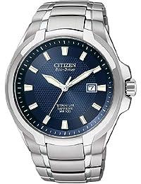 Mens Watch Citizen BM7170-53L Titanium Eco-Drive Sapphire Blue Dial