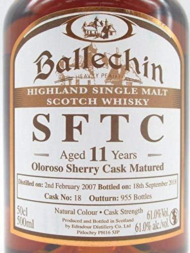 バレッヒェン 11年 2007 オロロソ シェリー カスク マチュアード (エドラダワー蒸留所) 61.0度 500ml
