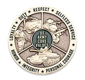 Army Core Values Challenge Coin - United States Army Challenge Coin - Amazing US Army Military Coin - Designed by Military Veterans! by Coins For Anything Inc