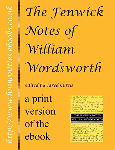 (The Fenwick Notes of William Wordsworth)