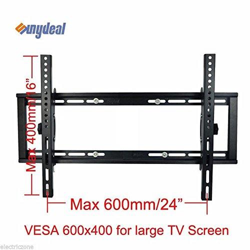 sunydeal tilt tv wall mount bracket for most 22 65 inch vizio samsung sony lg tcl sharp aquos. Black Bedroom Furniture Sets. Home Design Ideas