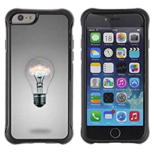 "Planetar® ( Light bulb Ideas ) 4.7"" iPhone 6 Hybrid Heavy Duty Shockproof TPU Fundas Cover Cubre Case"