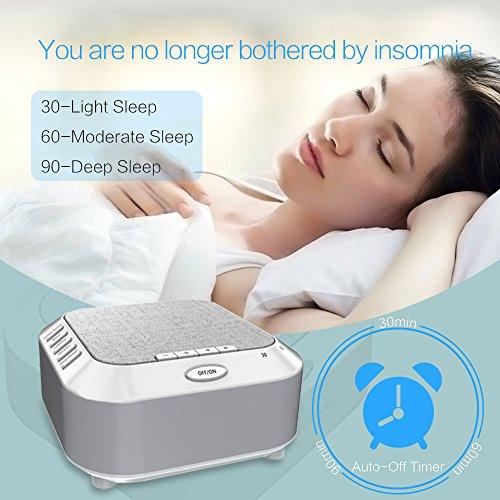 White Noise Night Light Travel Sleep for Kids Toddler Office Privacy
