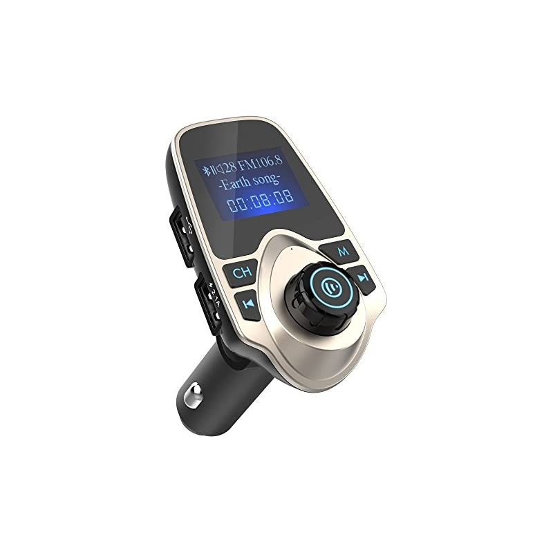 Nulaxy Bluetooth Car FM Transmitter Audi