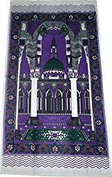 Islamic Prayer Mat Thin Cloth Muslim Outdoor Travel Camping Sajadah - Violet