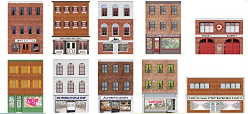 Model Train Scenery Sheets - O Scale Main Street Building Fronts