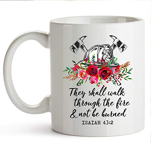 (YouNique Designs Firefighter Cup 11 Ounce Firefighter Wife Gifts Fireman Wife Gifts Fire Wife Gifts)