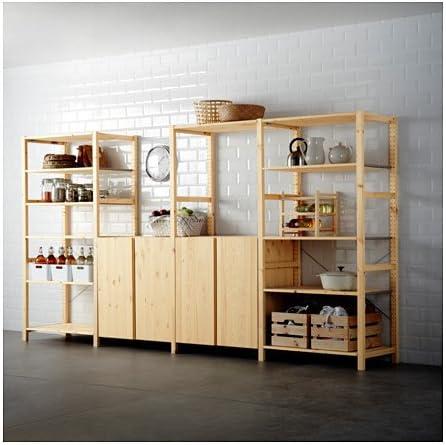 Ikea Estantería de 4 Secciones, Pino 20202.22317.210: Amazon ...