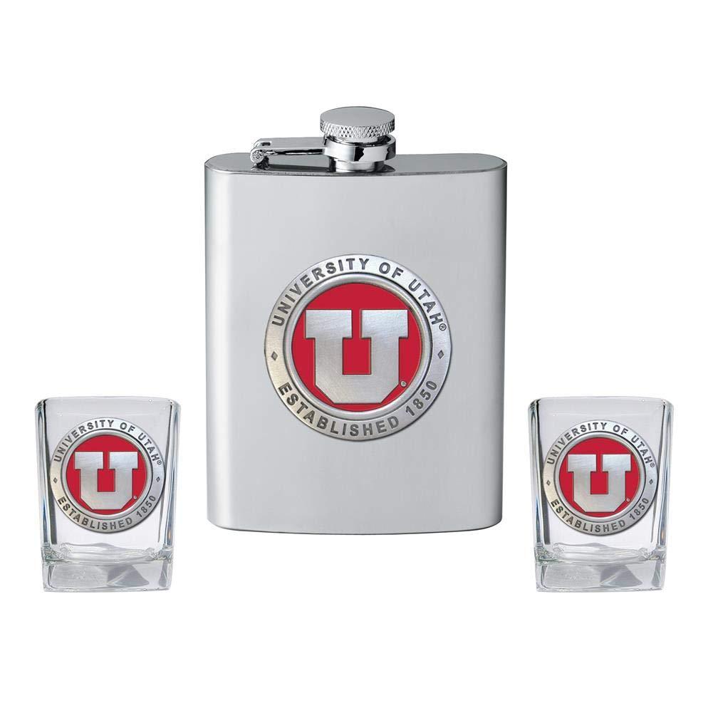 【売れ筋】 Heritage Metalwork フラスコ University of B07GQMT6D3 Utah Utes フラスコ Metalwork ショットグラスセット 酒瓶 B07GQMT6D3, フジノミヤシ:54935743 --- a0267596.xsph.ru