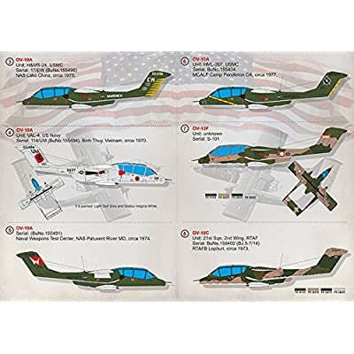 WET DECAL FOR REPUBLICWET DECAL FOR NORTH AMERICAN OV-10 BRONCO MODEL DECALS 1/72 PRINT SCALE 72-317 WET DECALS FOR AIRCRAFT: Toys & Games