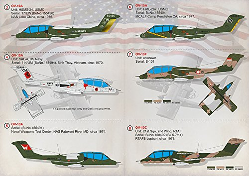 Wet Decal for REPUBLICWET Decal for North American OV-10 Bronco Model Decals 1/72 PRINT SCALE 72-317 Wet Decals for… 3