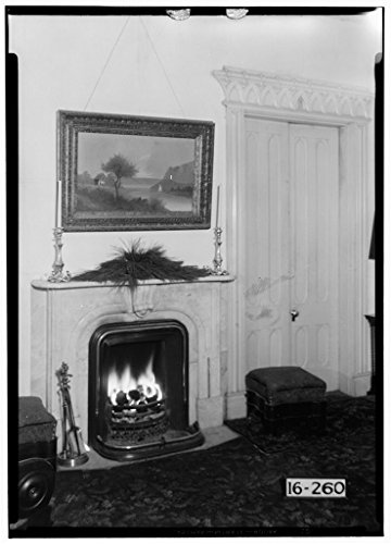 8 x 12 Photo 7. Historic American Buildings Survey Alex Bush, Photographer, January 5, 1935 Fireplace - Waldwic House & Outbuildings, State Route 69, Gallion, Hale County, AL After 1933 33a by Vintography