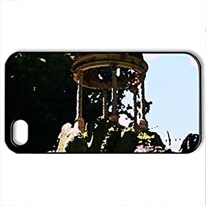 Lady Liberty N.For SamSung Note 2 Case Cover (Monuments Series, Watercolor style, Black)