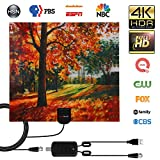 TV Antenna Amplifier 3D Painting Indoors,HDTV Antennas for Digital TV 150 Mile Range,Support 4K HD 1080P Amplifier Signal Booster,with 16ft Coax Cable/USB Power Adapter